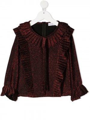 Pleated ruffle blouse Sonia Rykiel. Цвет: красный