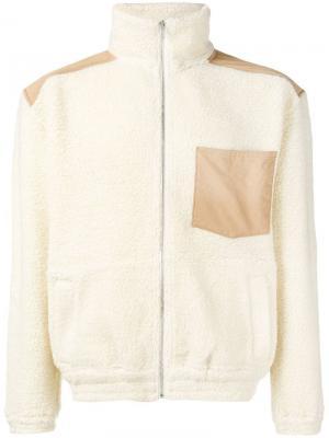 Shearling jacket Nanamica. Цвет: белый