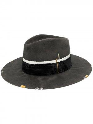 Шляпа-федора Rochas Nick Fouquet. Цвет: серый