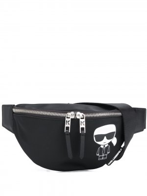 Поясная сумка K/Ikonik Karl Lagerfeld. Цвет: черный