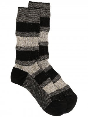 Носки в полоску с эффектом металлик Missoni. Цвет: черный