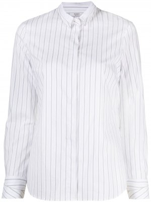 Полосатая рубашка на пуговицах Peserico. Цвет: белый