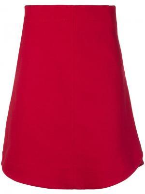 A-line skirt Carven. Цвет: красный