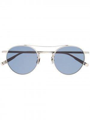 Солнцезащитные очки California из коллаборации с Rimowa Garrett Leight. Цвет: серебристый
