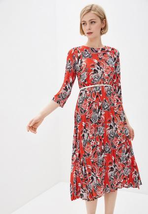 Платье Baon. Цвет: красный