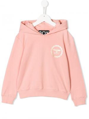 Eagle print hoodie Boy London Kids. Цвет: розовый