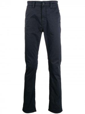 Прямые брюки чинос Nudie Jeans. Цвет: синий