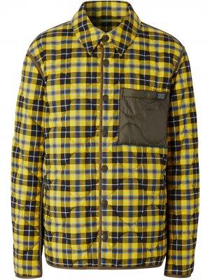 Стеганая куртка-рубашка в клетку Burberry. Цвет: желтый