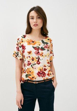 Блуза Ichi. Цвет: бежевый