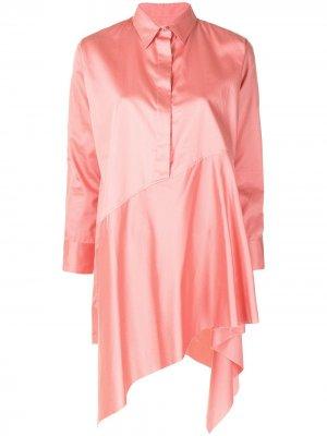 MarquesAlmeida атласное платье-рубашка Marques'Almeida. Цвет: розовый