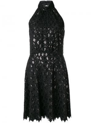 Платье с плетением Emporio Armani. Цвет: черный