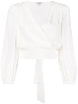 Блузка с запахом Temperley London. Цвет: белый