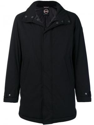 Пальто с капюшоном и воротником-стойкой Colmar. Цвет: черный