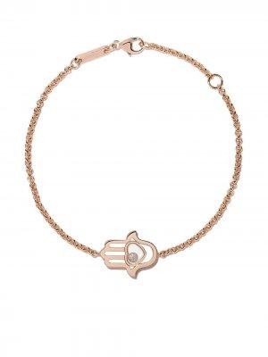 Браслет Good Luck Charms из розового золота с бриллиантами Chopard. Цвет: розовый