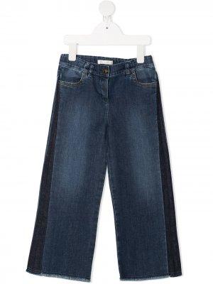 Широкие джинсы с лампасами Zhoe & Tobiah. Цвет: синий