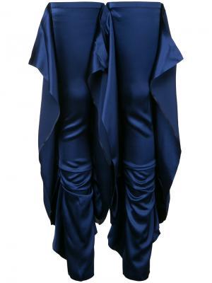 Высокие гетры с драпировкой Paula Knorr. Цвет: синий
