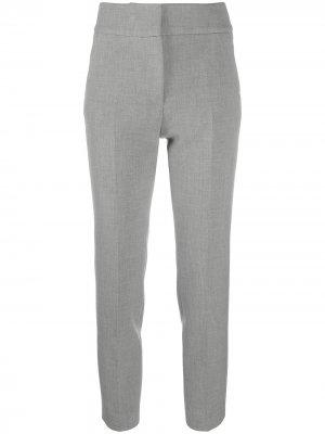 Укороченные брюки с завышенной талией Peserico. Цвет: серый