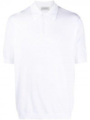 Рубашка поло с короткими рукавами John Smedley. Цвет: белый