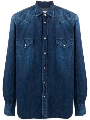 Джинсовая рубашка в стиле вестерн Jacob Cohen. Цвет: синий
