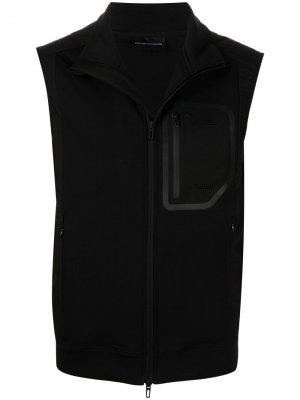 Легкий жилет Emporio Armani. Цвет: черный