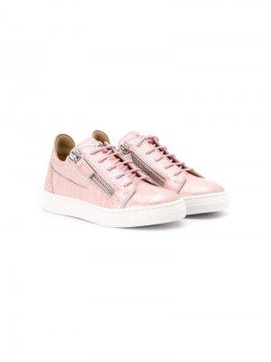 Кроссовки на молнии Giuseppe Junior. Цвет: розовый