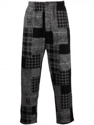 Прямые брюки с принтом Engineered Garments. Цвет: черный
