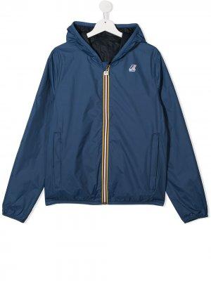 Куртка Jacques с капюшоном K Way Kids. Цвет: синий