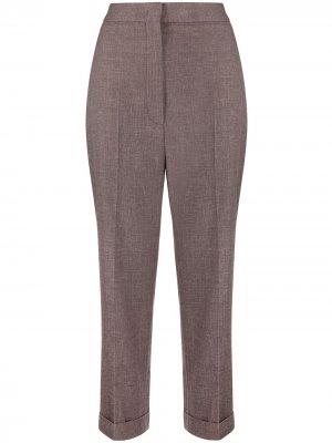 Укороченные брюки с завышенной талией Fabiana Filippi. Цвет: фиолетовый