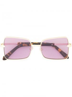 Солнцезащитные очки Wisdom в квадратной оправе Karen Walker. Цвет: фиолетовый