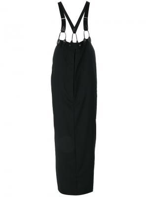 Длинная юбка с подтяжками Jean Paul Gaultier Vintage. Цвет: черный