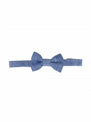 Фактурный галстук-бабочка Harmont & Blaine Junior. Цвет: синий