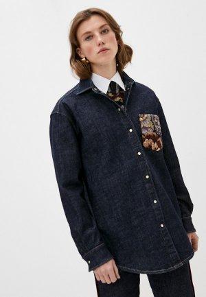 Рубашка джинсовая LAutre Chose L'Autre. Цвет: синий