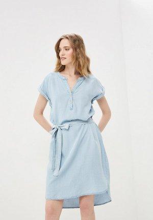 Платье джинсовое Baon. Цвет: голубой