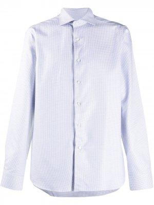 Рубашка с французским воротником и принтом Canali. Цвет: белый