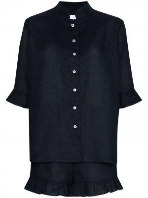 Пижама с оборками Sleeper. Цвет: синий
