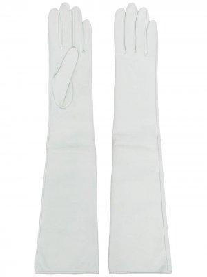 Длинные перчатки Manokhi. Цвет: белый