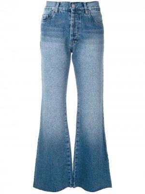 Расклешенные джинсы Love Eva. Цвет: синий