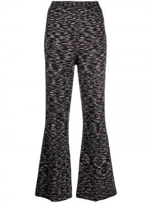 Расклешенные трикотажные брюки M Missoni. Цвет: черный