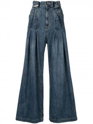 Широкие джинсы с завышенной талией Maison Mihara Yasuhiro. Цвет: синий