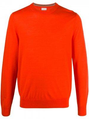 Пуловер с круглым вырезом и логотипом Paul Smith. Цвет: оранжевый