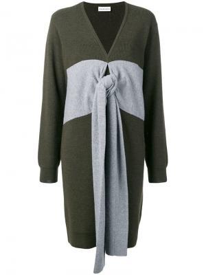 Panelled tie jumper dress Carven. Цвет: зеленый