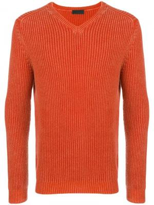 Ribbed knit sweater Iris Von Arnim. Цвет: желтый