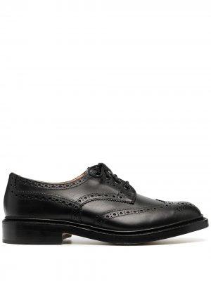 Trickers броги на шнуровке Tricker's. Цвет: черный