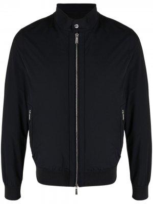 Куртка с нашивкой-логотипом Moorer. Цвет: синий