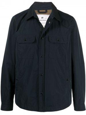 Куртка-рубашка с нагрудными карманами Woolrich. Цвет: синий