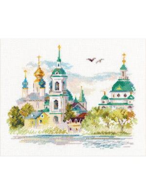 Набор для вышивания Ростов Великий.Спасо-Яковлевский монастырь 22х18 см  Алиса. Цвет: белый, бирюзовый, зеленый