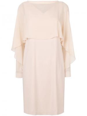 Многослойное платье-шифт D.Exterior. Цвет: нейтральные цвета