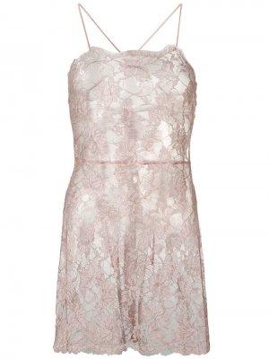 Кружевная комбинация Gilded Macaron Gilda & Pearl. Цвет: розовый