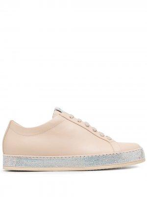 Кроссовки Andrea с кристаллами Le Silla. Цвет: нейтральные цвета