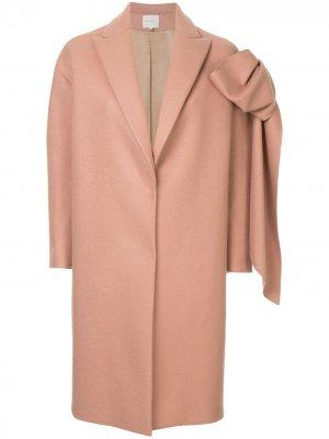 Straight coat with bow Delpozo. Цвет: розовый